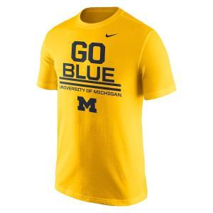 ナイキ メンズ Michigan Wolverines Nike Local Verbiage T-Shirt 半袖 Tシャツ Gold|troishomme