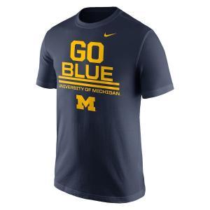 ナイキ メンズ Michigan Wolverines Nike Local Verbiage T-Shirt 半袖 Tシャツ Navy|troishomme