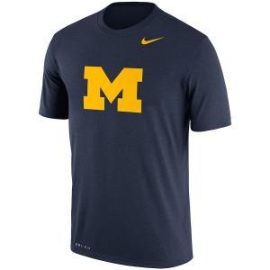 ナイキ メンズ Michigan Wolverines Nike Logo Legend Dri-FIT Performance T-Shirt 半袖 Tシャツ ドライフィット Navy|troishomme