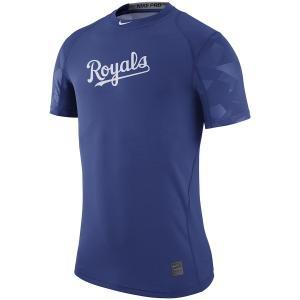 ナイキ メンズ MLB Kansas City Royals Nike Pro Cool Performance T-Shirt Tシャツ 半袖 ドライフィット Royal|troishomme