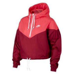 e570c3b28174ff ナイキ レディース ジャケット Nike Heritage Half-Zip Jacket ハーフジップ トレーニングウェア Team  Red/Ember