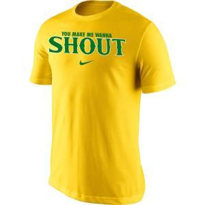 ナイキ メンズ Oregon Ducks Nike Shout 2 T-Shirt 半袖 Tシャツ Yellow troishomme