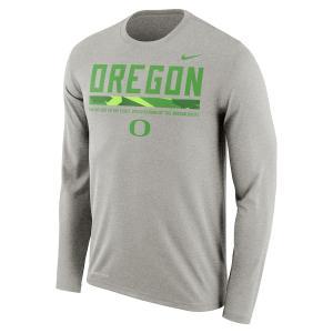 ナイキ メンズ ロンT Oregon Ducks Nike Sideline Staff Dri-FIT Legend L/S T-Shirt Tシャツ 長袖 Charcoal troishomme