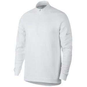 ナイキ メンズ ゴルフ ポロシャツ Nike Therma Repel 1/2 Zip Golf Top 長袖 White/Silver troishomme