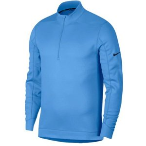 ナイキ メンズ ゴルフ ポロシャツ Nike Therma Repel 1/2 Zip Golf Top 長袖 University Blue/Black|troishomme