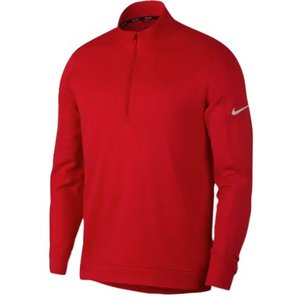 ナイキ メンズ ゴルフ ポロシャツ Nike Therma Repel 1/2 Zip Golf Top 長袖 University Red/Silver|troishomme