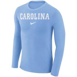 ナイキ メンズ ロンT North Carolina Tar Heels Nike Marled Wordmark L/S Performance T-Shirt Tシャツ 長袖 Carolina Blue|troishomme