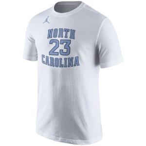 ジョーダン メンズ Michael Jordan North Carolina Tar Heels Nike Future Star Basketball Replica T-Shirt Tシャツ 半袖 White|troishomme