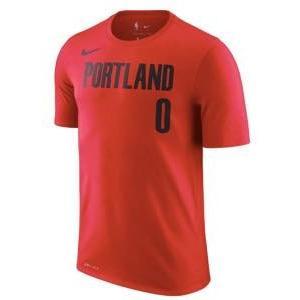 ナイキ メンズ Tシャツ Damian Lillard Portland Trail Blazers Nike Number Statement Performance T-Shirt Red|troishomme