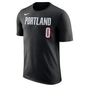 ナイキ メンズ Tシャツ Damian Lillard Portland Trail Blazers Nike Number Statement Performance T-Shirt Black|troishomme