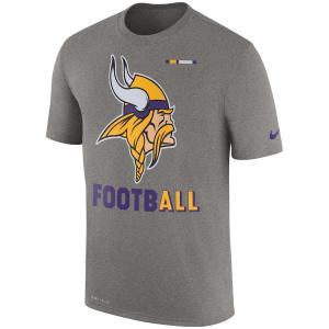 ナイキ メンズ NFL Minnesota Vikings Nike Sideline Legend Football T-Shirt 半袖 Tシャツ ドライフィット Charcoal|troishomme