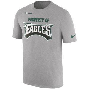 ナイキ メンズ NFL Philadelphia Eagles Nike Sideline Property Of Facility T-Shirt 半袖 Tシャツ Heather Gray|troishomme