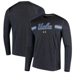 UCLA Bruins Under Armour Long Sleeve T-Shirtメンズ Black アンダーアーマー NCAA バスケ ロングスリーブ Tシャツ|troishomme
