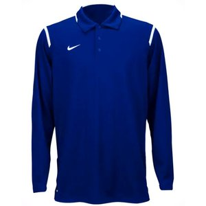 ナイキ メンズ ポロシャツ Nike Team Gameday Polo L/S Shirt ゴルフ 長袖 ロンT Team Game Royal/White|troishomme