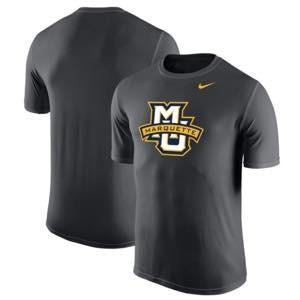 ナイキ メンズ NCAA カレッジ Tシャツ Marquette Golden Eagles Nike Legend Logo Sideline Performance T-Shirt Anthracite|troishomme