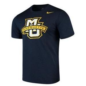 ナイキ メンズ NCAA カレッジ Tシャツ Marquette Golden Eagles Nike Legend Logo Sideline Performance T-Shirt Navy|troishomme