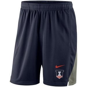 ナイキ カレッジ NCAA ショーツ Illinois Fighting Illini Nike Franchise Shorts バスパン Navy|troishomme