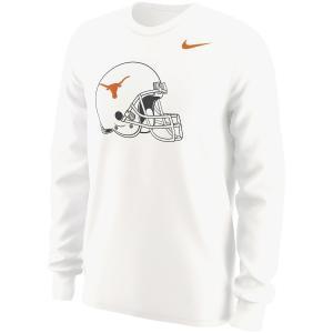 ナイキ メンズ ロンT Texas Longhorns Nike Alt Logo L/S T-Shirt Tシャツ 長袖 White|troishomme