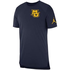 ジョーダン メンズ Marquette Golden Eagles Jordan 2018 Elite Basketball On-Court Shooter Shirt 半袖 Tシャツ ドライフィット Navy|troishomme