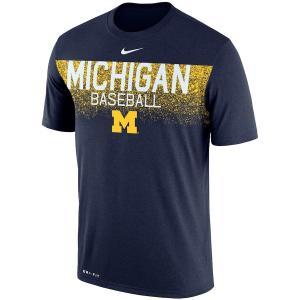ナイキ メンズ Michigan Wolverines Nike 2018 Baseball Team Issue Legend T-Shirt 半袖 Tシャツ ドライフィット Navy|troishomme