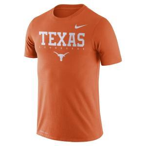 ナイキ メンズ Texas Longhorns Nike 2018 Facility Dri-FIT Cotton T-Shirt 半袖 Tシャツ ドライフィット Texas Orange|troishomme