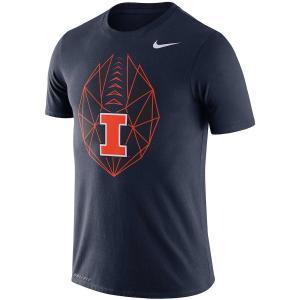 ナイキ メンズ Illinois Fighting Illini Nike Icon  T-Shirt 半袖 Tシャツ ドライフィット Navy|troishomme
