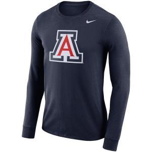 ナイキ メンズ ロンT Arizona Wildcats Nike School Logo Performance L/S T-Shirt Tシャツ 長袖 Navy|troishomme