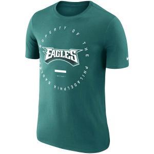 ナイキ メンズ NFL Philadelphia Eagles Nike Sideline Property Of Performance T-Shirt 半袖 Tシャツ ドライフィット Midnight Green|troishomme