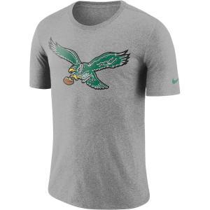 ナイキ メンズ NFL Philadelphia Eagles Nike Historic Tri-Blend Crackle T-Shirt 半袖 Tシャツ Heathered Gray|troishomme