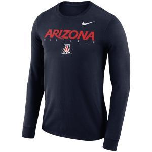 ナイキ メンズ ロンT Arizona Wildcats Nike 2018 Facility Dri-FIT Cotton L/S T-Shirt Tシャツ 長袖 ドライフィット Navy|troishomme