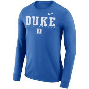 ナイキ メンズ ロンT Duke Blue Devils Nike 2018 Facility Dri-FIT Cotton L/S T-Shirt Tシャツ 長袖 ドライフィット Royal troishomme