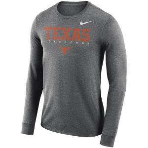 ナイキ メンズ ロンT Texas Longhorns Nike 2018 Facility Dri-FIT Cotton L/S T-Shirt Tシャツ 長袖 Navy|troishomme
