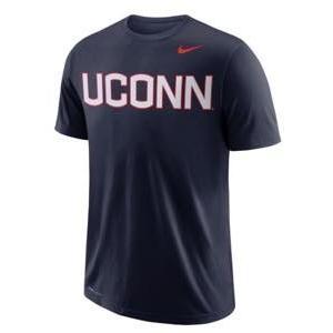 ナイキ メンズ NCAA カレッジ Tシャツ UConn Huskies Nike School Wordmark Performance T-Shirt Navy|troishomme