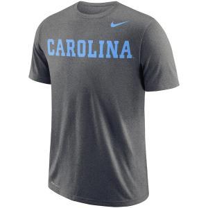ナイキ メンズ North Carolina Tar Heels Nike School Wordmark Performance T-Shirt Tシャツ 半袖 ドライフィット Charcoal|troishomme