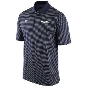 ナイキ メンズ Arizona Wildcats Nike Striped Team Performance Polo 半袖 ポロシャツ ゴルフ Navy|troishomme