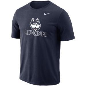 ナイキ メンズ UConn Huskies Nike Performance Cotton School Logo T-Shirt 半袖 Tシャツ ドライフィット Navy|troishomme