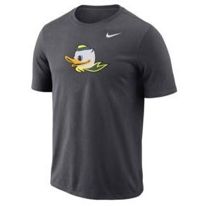 ナイキ メンズ NCAA カレッジ Tシャツ Oregon Ducks Nike Performance Cotton School Logo T-Shirt Anthracite|troishomme