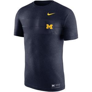 ナイキ メンズ Michigan Wolverines Nike Marled Pocket T-Shirt 半袖 Tシャツ Navy|troishomme