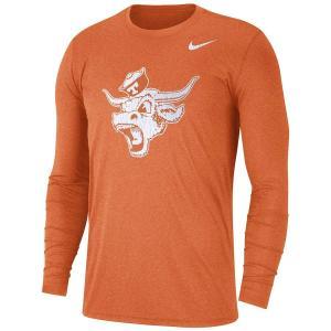 ナイキ メンズ ロンT Texas Longhorns Nike Retro Tri-Blend  L/S T-Shirt Tシャツ 長袖 Texas Orange|troishomme