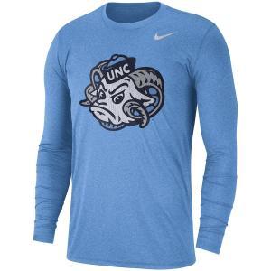 ナイキ メンズ ロンT North Carolina Tar Heels Nike Retro Tri-Blend L/S T-Shirt Tシャツ 長袖 Carolina Blue|troishomme