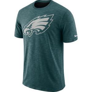 ナイキ メンズ NFL Philadelphia Eagles NikeSideline Cotton Slub Performance T-Shirt 半袖 Tシャツ アメフト ドライフィット Midnight Green|troishomme