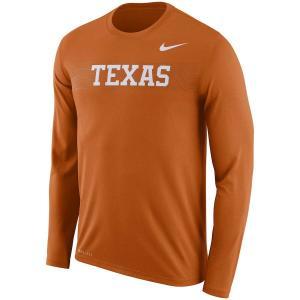 ナイキ メンズ ロンT Texas Longhorns Nike 2018 Sideline Seismic Legend L/S T-Shirt Tシャツ 長袖 Orange|troishomme