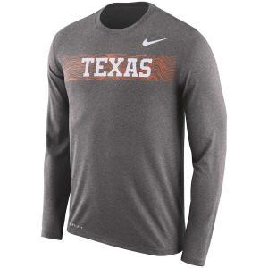 ナイキ メンズ ロンT Texas Longhorns Nike 2018 Facility Dri-FIT Cotton L/S T-Shirt Tシャツ 長袖|troishomme
