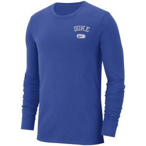 ナイキ メンズ ロンT Duke Blue Devils Nike Heavyweight Cotton Retro L/S T-Shirt Tシャツ 長袖 ドライフィット Royal troishomme