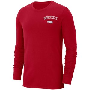 ナイキ メンズ ロンT Ohio State Buckeyes Nike Heavyweight Cotton Retro L/S T-Shirt Tシャツ 長袖 Scarlet|troishomme