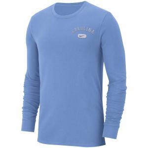 ナイキ メンズ ロンT North Carolina Tar Heels Nike Heavyweight Cotton Retro L/S T-Shirt Tシャツ 長袖 Light Blue|troishomme