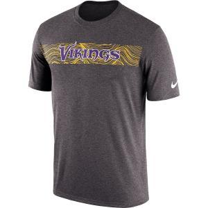 ナイキ メンズ NFL Minnesota Vikings Nike Sideline Seismic Legend T-Shirt 半袖 Tシャツ ドライフィット Heather Charcoal|troishomme