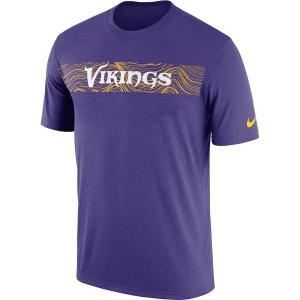 ナイキ メンズ NFL Minnesota Vikings Nike Sideline Seismic Legend T-Shirt 半袖 Tシャツ ドライフィット Purple|troishomme