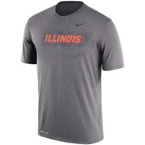 ナイキ メンズ Illinois Fighting Illini Nike 2018 Sideline Seismic Legend Dri-FIT T-Shirt 半袖 Tシャツ ドライフィット Charcoal|troishomme
