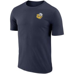 ナイキ メンズ Michigan Wolverines Nike Performance Cotton Retro T-Shirt 半袖 Tシャツ ドライフィット Navy|troishomme
